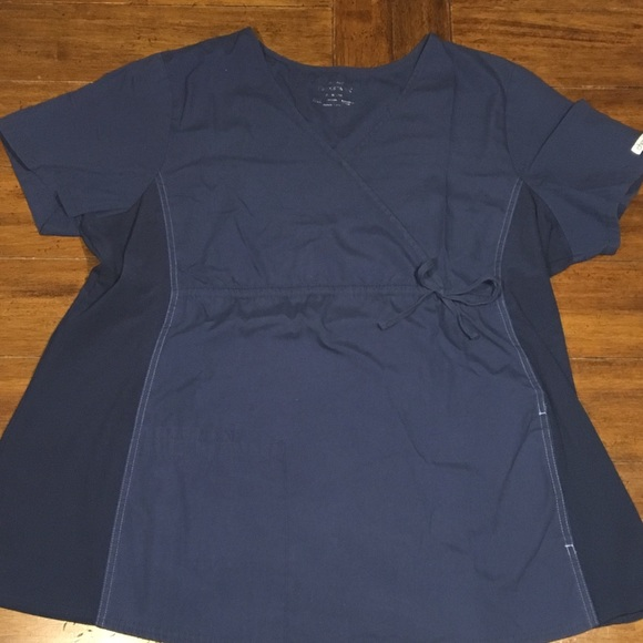 fd27cd704cb Cherokee Tops   Workwear Maternity Scrub Top Navy Xl   Poshmark